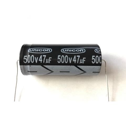 チューブラコンデンサー500V/47uF(unicon)