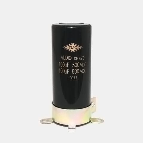 新品・電解コンデンサー500V/100uFX2