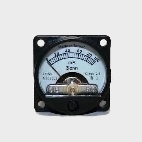 新品・電流計(100mA)円型