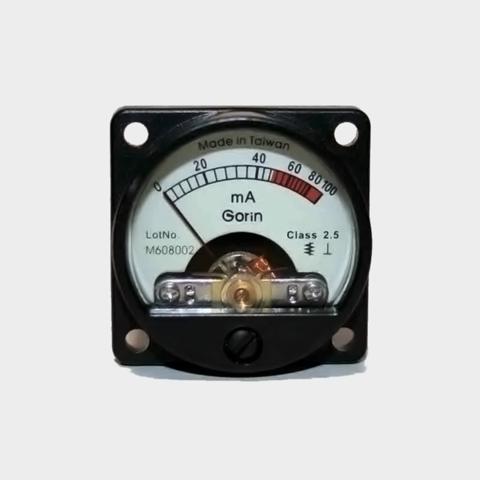 新品・電流計(100mA)円型 赤