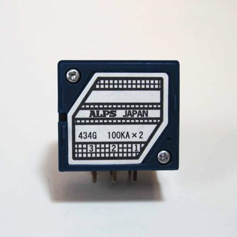新品・アルプス製高級2連ボリューム(Aカーブ)基板タイプ