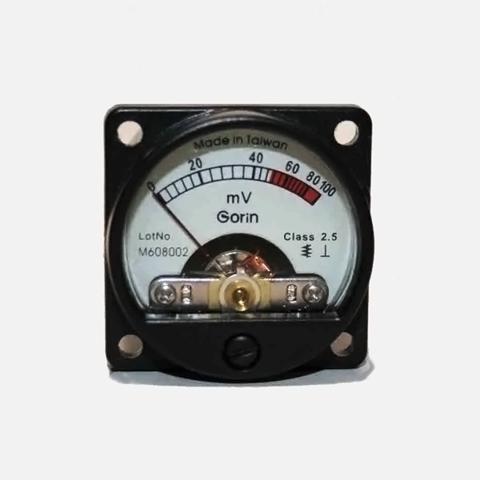 新品・電圧計(100mV)円型