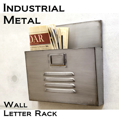 【Industrial Metal】男前インテリア インダストリアル ウォール レターラック1【ランク1】新品・未使用品