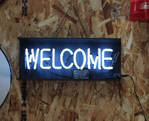 アメリカン雑貨 ネオンサイン「ウェルカム」「オープン」「リキュール」「モーテル」NEON SIGN WELCOME OPEN LIQUOR MOTEL【ランク1】新品・未使用品