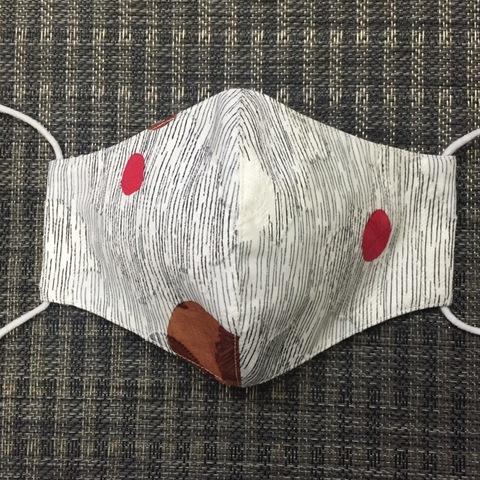 0021-M 女性サイズマスク 白/ヨロケ、丸