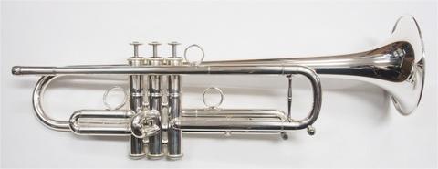 """【残り1本!】Queen Brass(クイーンブラス) Guarnerius(ガルネリウス)トランペット""""プロトタイプ""""銀メッキモデル"""