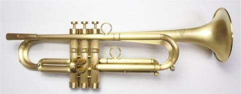 """Queen Brass(クイーンブラス)Bbトランペット 日野皓正""""Hino""""モデル・ヘビーウェイトモデル・サテンラッカー仕上げ"""