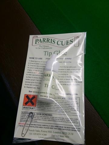 Parris Cues ティプ 接着剤