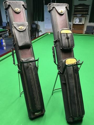 ポケット用 ビリヤード レザーキューケース スタンドホルダー付  2B4S