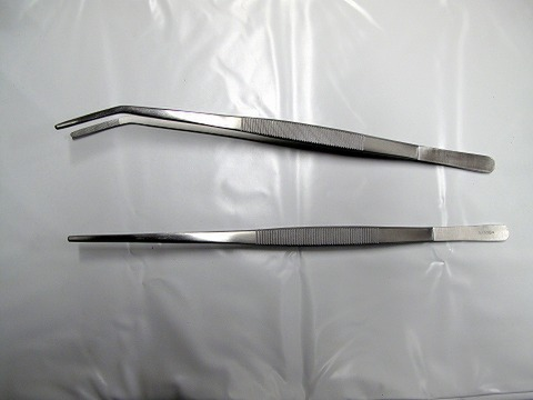 ストレートピンセット 30cm 〔ナミバテラ〕