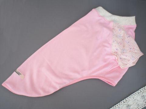 アニマルボーダーラグランTシャツ(ピンク)