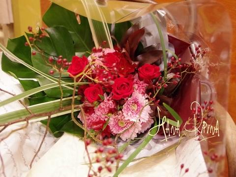 和風テイストな花束