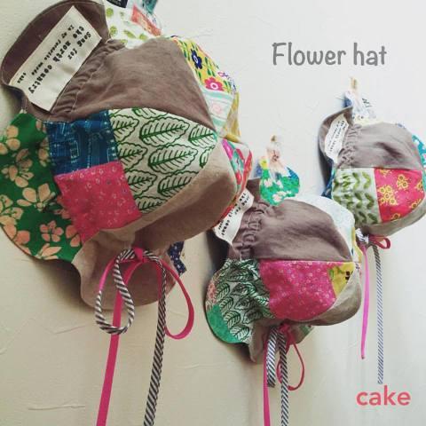 定番人気商品フラワーハットパターン54~58cm縫い代つき