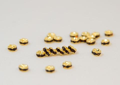 4x2 波型ロンデル(ゴールド) コーヒー