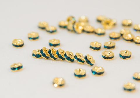4x2 波型ロンデル(ゴールド) ブルーグリーン