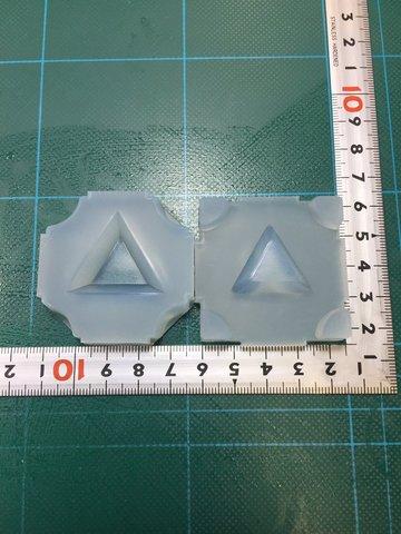 30「三角トレー」レジン用モールド