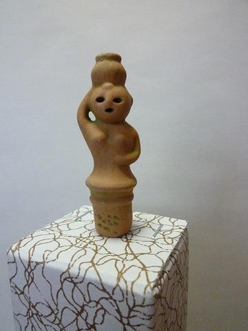 豆埴輪 壺の女