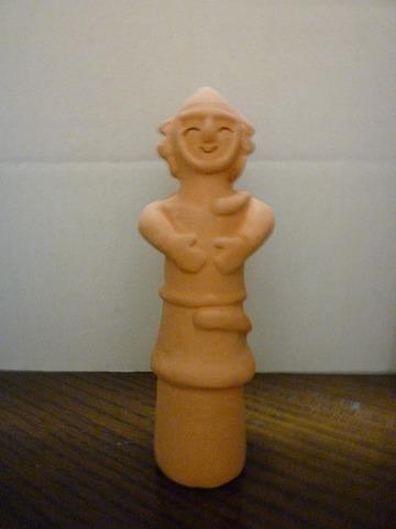ミニ笑う農夫埴輪
