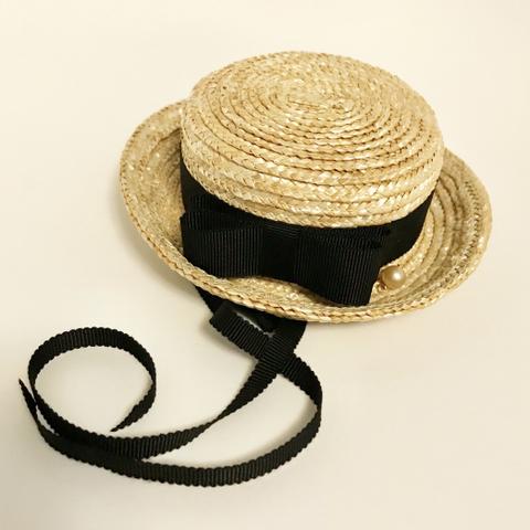 ◇ご予約品◇マリン帽 結びリボン付き パンジー1輪の染布花  3色からお選びください