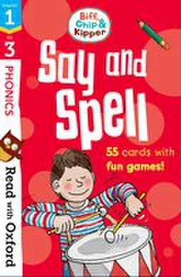 Read with Biff, Chip, and Kipper stage1-3: Say & Spell Flashcards
