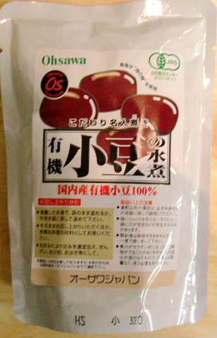 オーサワ 有機小豆水煮 230g