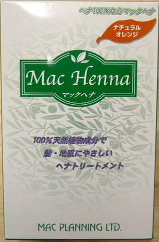 マックヘナ ナチュラルオレンジ・ヘナ100% 100g