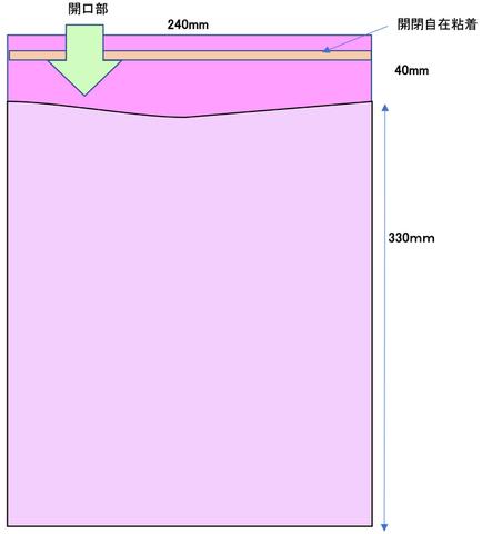 UVカットOPP袋 UV T24-33.2 500枚 角2サイズ
