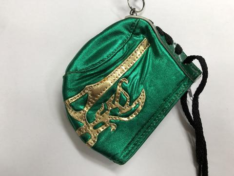 マスク型コインケース 〔エル・カネック緑〕