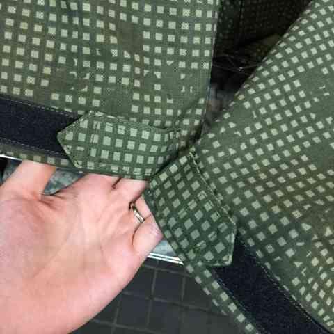 袖口ボタンベルクロ化