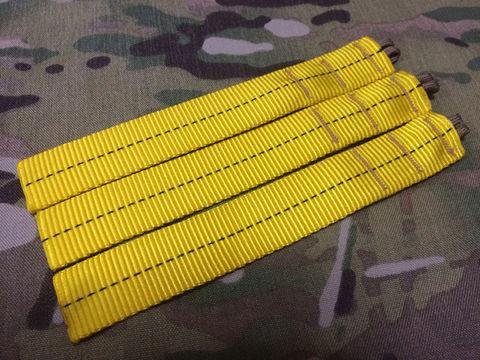 AWS風黄色い紐縫い目TAN