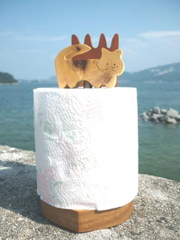 猫のトイレッペーパーホルダー