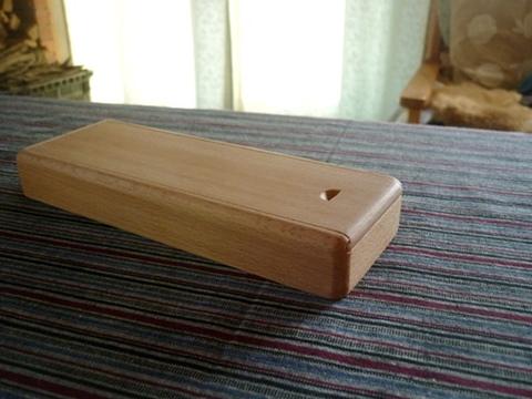 木の筆箱 ヨーロッパビーチ