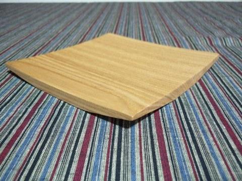 木の器 角皿タモ材