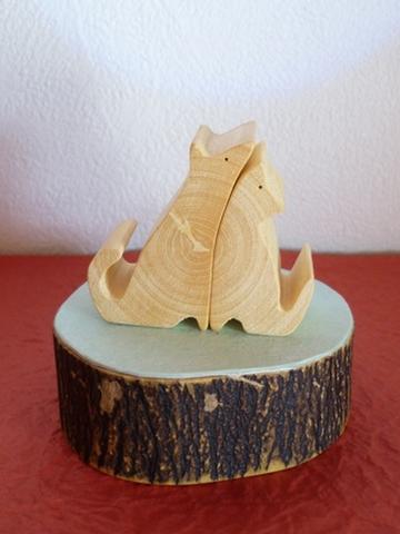 仲良し犬 みかんの木のクラフトシリーズ