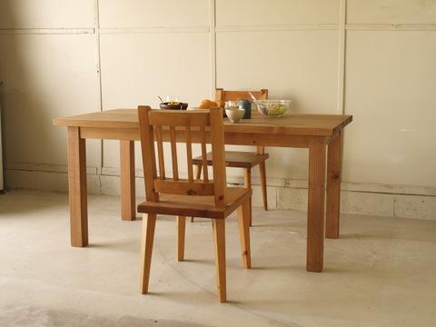 ダイニングテーブル001 150×72×80 無垢 4人~6人用