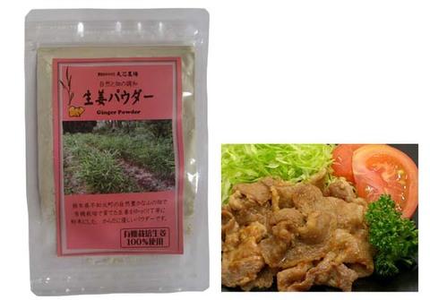 有機栽培生姜100%生姜パウダー(20g)