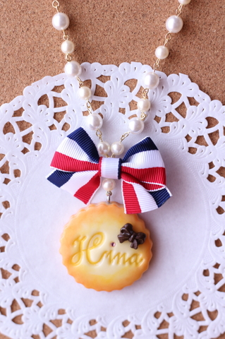 ロゴクッキーネックレス(ミニ)