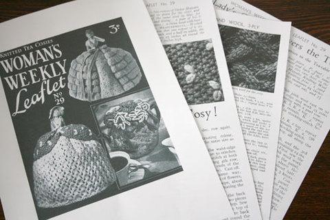 ハーフドール用ニットのティーコゼーの編み方パターン (英語)
