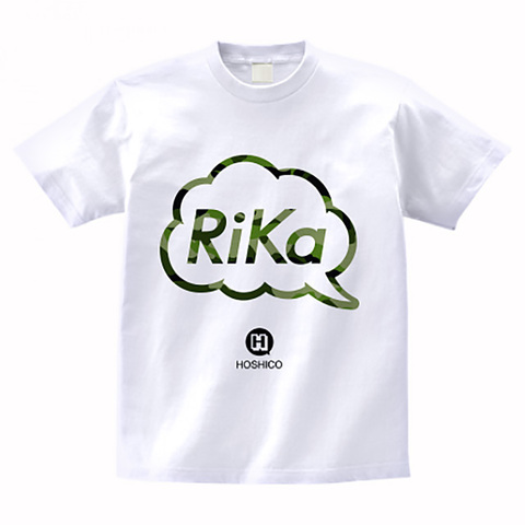 HOSHICO / Rika in Balloon T-shirt White Camo