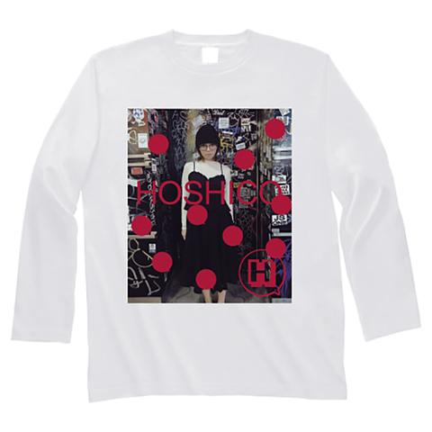 HOSHICO / Glasses of Girl Photo Long Sleeve T-shirt White
