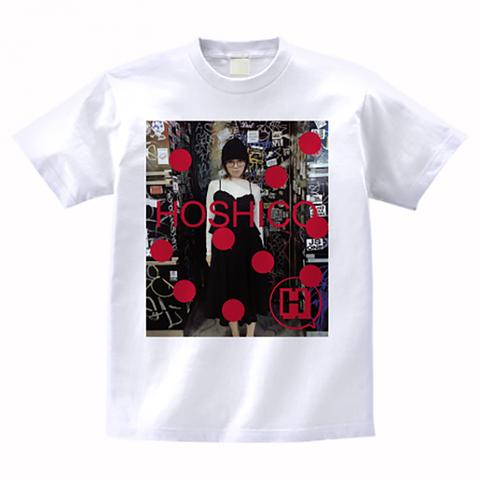 HOSHICO / Glasses of Girl Photo T-shirt White
