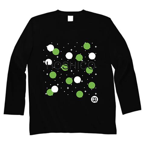 HOSHICO / Neo Crazy Dot Long Sleeve T-shirt Black & Green