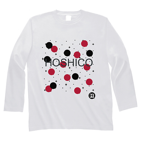 HOSHICO / Neo Crazy Dot Long Sleeve T-shirt White & Red