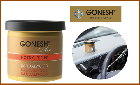 【GONESH】SANDALWOOD GEL AIR FRESHENER ジェルエアフレッシュナー