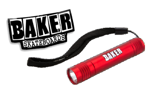【BAKER】BRAND LOGO RED MINI FLASLIGHT