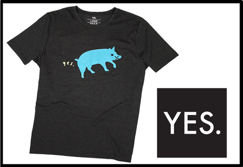 【YES】PIG FART TEE
