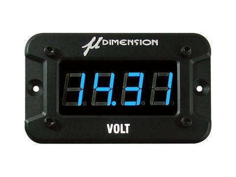 ミューディメンション製 デジタル電圧計(LEDブルー)