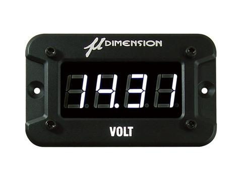 ミューディメンション製 デジタル電圧計(LEDホワイト)