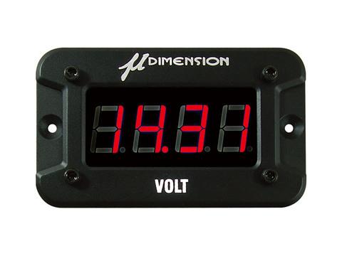 ミューディメンション製 デジタル電圧計(LEDレッド)