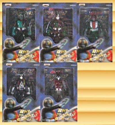 バンプレスト 仮面ライダー キャラコレ アクションフィギュア 限定クリアバージョン 全5種セット【未開封新品】